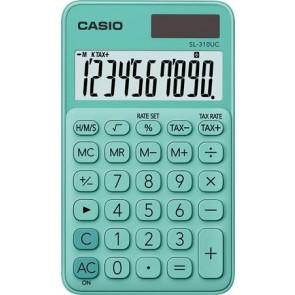 """Zsebszámológép, 10 számjegy, CASIO """"SL 310"""", zöld"""
