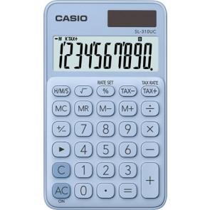 """Zsebszámológép, 10 számjegy, CASIO """"SL 310"""", világoskék"""