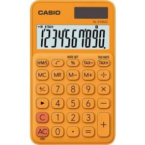 """Zsebszámológép, 10 számjegy, CASIO """"SL 310"""", narancs"""
