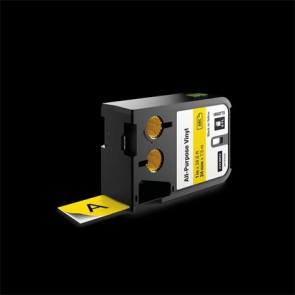 """Feliratozógép szalag, 24 mm x 7 m, DYMO """"XTL"""", sárga-fekete"""