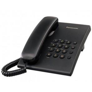 """Telefon, vezetékes, PANASONIC """"KX-TS500HGB"""", fekete"""