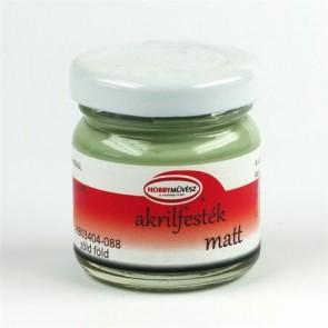 Akrilfesték, 40 ml, matt, zöld föld