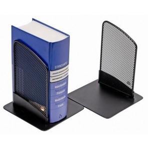 Könyvtámasz, fémhálós, 2 db, ALBA, fekete