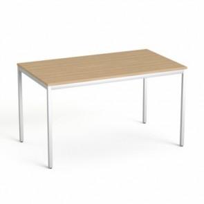 """Általános asztal fémlábbal, 75x130 cm, MAYAH """"Freedom SV-38"""", kőris"""