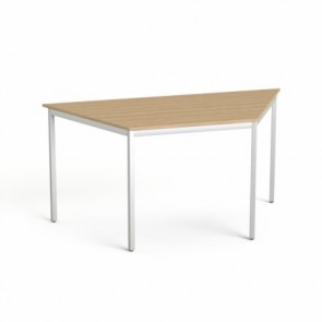 """Általános asztal fémlábbal, trapéz alakú, 75x150/75 cm, MAYAH """"Freedom SV-41"""", kőris"""