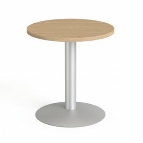 """Tárgyalóasztal, kör, szürke fémlábbal, O 60 cm, MAYAH """"Freedom SV-57"""", kőris"""