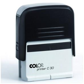 """Bélyegző, COLOP """"Printer C 30"""", kék cserepárnával"""