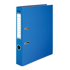 """Iratrendező, 50 mm, A4, PP/karton, élvédő sínnel, VICTORIA, """"Basic"""", kék"""