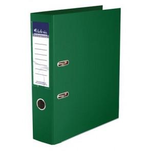 """Iratrendező, 75 mm, A4, PP/PP, élvédő sínnel, VICTORIA, """"Premium"""", zöld"""