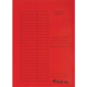 Pólyás dosszié, karton, A4, VICTORIA, piros