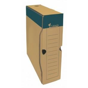 Archiválódoboz, A4, 80 mm, karton, VICTORIA, natúr