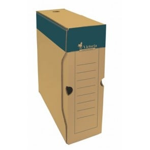 Archiválódoboz, A4, 100 mm, karton, VICTORIA, natúr