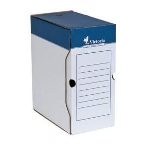 Archiválódoboz, A4, 150 mm, karton, VICTORIA, kék-fehér
