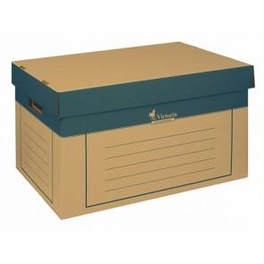 Archiválókonténer, 320x460x270 mm, karton, VICTORIA, natúr