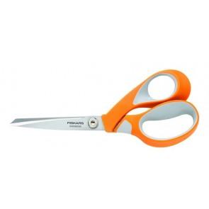 """Olló, általános, 21 cm, FISKARS """"RazorEdge Softgrip"""", narancssárga"""