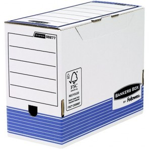 "Archiváló doboz, 150 mm, ""BANKERS BOX® SYSTEM by FELLOWES®"", kék"