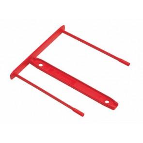 Lefűzőklip, műanyag, 85 mm, FELLOWES, Bankers Box®, piros