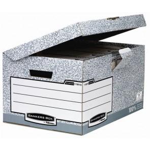 """Csapófedeles archiváló konténer, """"BANKERS BOX® SYSTEM by FELLOWES®"""", szürke"""