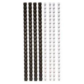 Spirál, műanyag, 6 mm, 10-20 lap, FELLOWES, 25 db, fekete