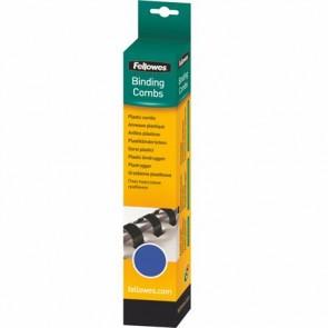 Spirál, műanyag, 8 mm, 21-40 lap, FELLOWES, 25 db, kék