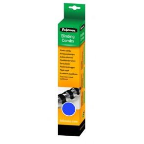 Spirál, műanyag, 12 mm, 56-80 lap, FELLOWES, 25 db, kék