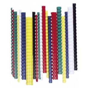 Spirál, műanyag, 45 mm, 341-410 lap, FELLOWES, 50 db, fekete