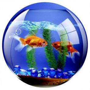 """Egéralátét, kör alakú, FELLOWES """"Brite™"""", akvárium"""