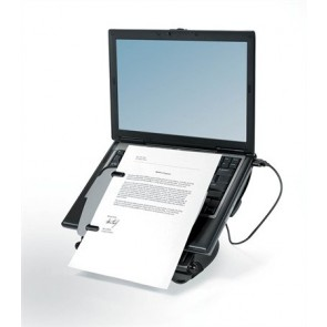 "Notebook állvány, USB portokkal, FELLOWES ""Professional Series™ Laptop Workstation"""