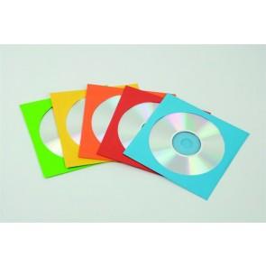 CD/DVD boríték, papír, ablakos, FELLOWES, vegyes színek