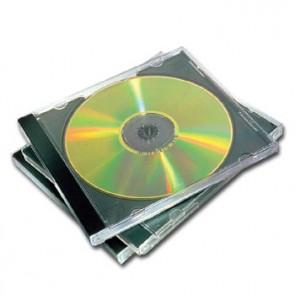 CD-tok, normál, 1 lemez, FELLOWES, fekete