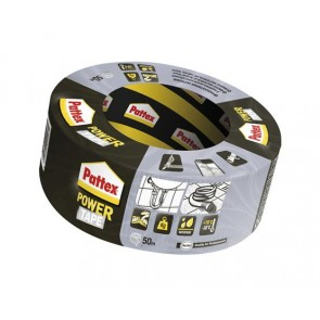 "Ragasztószalag, 50 mm x 50 m, HENKEL ""Pattex Power Tape"", ezüst"