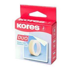 "Ragasztószalag, kétoldalas, 15 mm x 5 m, KORES ""Duo"""