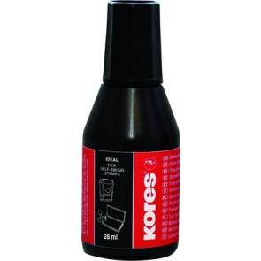 Bélyegzőfesték, 28 ml, KORES, fekete
