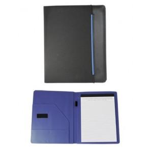 Konferencia mappa, A4, szövet, fekete-kék