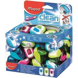 """Hegyező display, egylyukú, tartályos, MAPED """"Clean"""", vegyes színek"""
