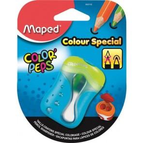 """Hegyező, kétlyukú, tartályos, tompára hegyező, MAPED """"Color`Peps"""", vegyes színekben"""