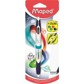 """Golyóstoll, 0,5 mm, kétvégű, MAPED """"Twin Tip"""", 4 hagyományos szín"""
