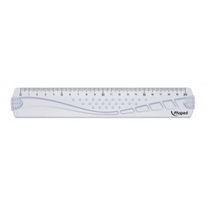 Vonalzó, műanyag, 20 cm, MAPED, Geometric
