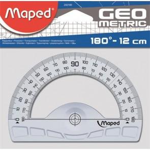 """Szögmérő, műanyag, 180°, MAPED """"Geometric"""""""