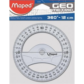 """Szögmérő, műanyag, 360°, MAPED """"Geometric"""""""