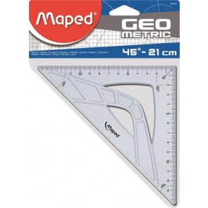 """Háromszög vonalzó, műanyag, 45°, 21 cm, MAPED """"Geometric"""""""