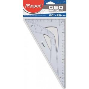 """Háromszög vonalzó, műanyag, 60°, 26 cm, MAPED """"Geometric"""""""