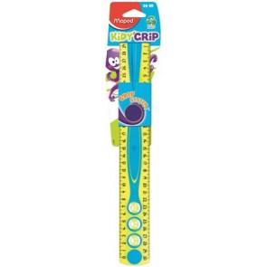 """Vonalzó, műanyag, gumírozott, 30 cm, MAPED """"Kidy Grip"""", vegyes színek"""