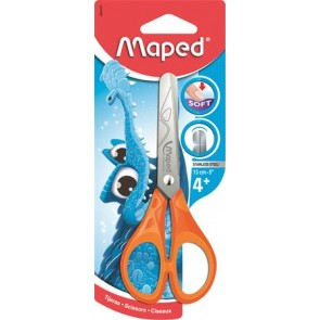 "Olló, iskolai, 13 cm, MAPED ""Essentials Soft"""