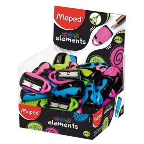 """Hegyező, egylyukú, MAPED """"Elements"""", vegyes színek display"""