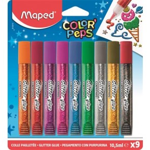 """Csillámos ragasztó, MAPED """"Color`Peps"""", 9 különböző szín"""