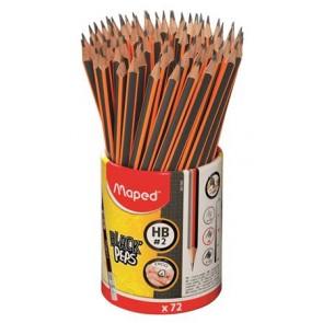 "Grafitceruza radírral, ceruzatartó, HB, háromszögletű, MAPED ""Black`Peps"""