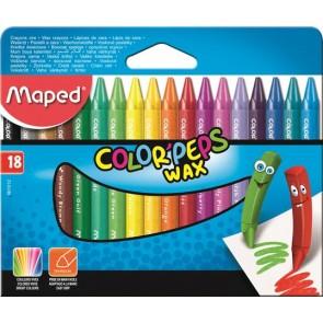 """Zsírkréta, MAPED """"Color`Peps Wax"""", 18 különböző szín"""