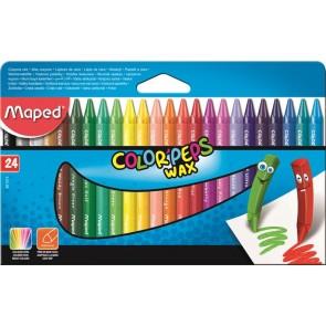 """Zsírkréta, MAPED """"Color`Peps Wax"""", 24 különböző szín"""