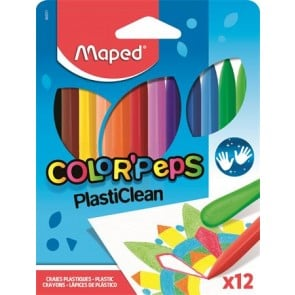 """Zsírkréta, MAPED """"Color`Peps"""" PlastiClean, 12 különböző szín"""